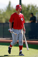 Mark Fleury - Cincinnati Reds 2009 Instructional League. .Photo by:  Bill Mitchell/Four Seam Images..