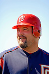 15 March 2006: Matthew LeCroy, catcher for the Washington Nationals, prepares for batting practice prior to a Spring Training game against the New York Mets. The Mets defeated the Nationals 8-5 at Space Coast Stadium, in Viera, Florida...Mandatory Photo Credit: Ed Wolfstein..