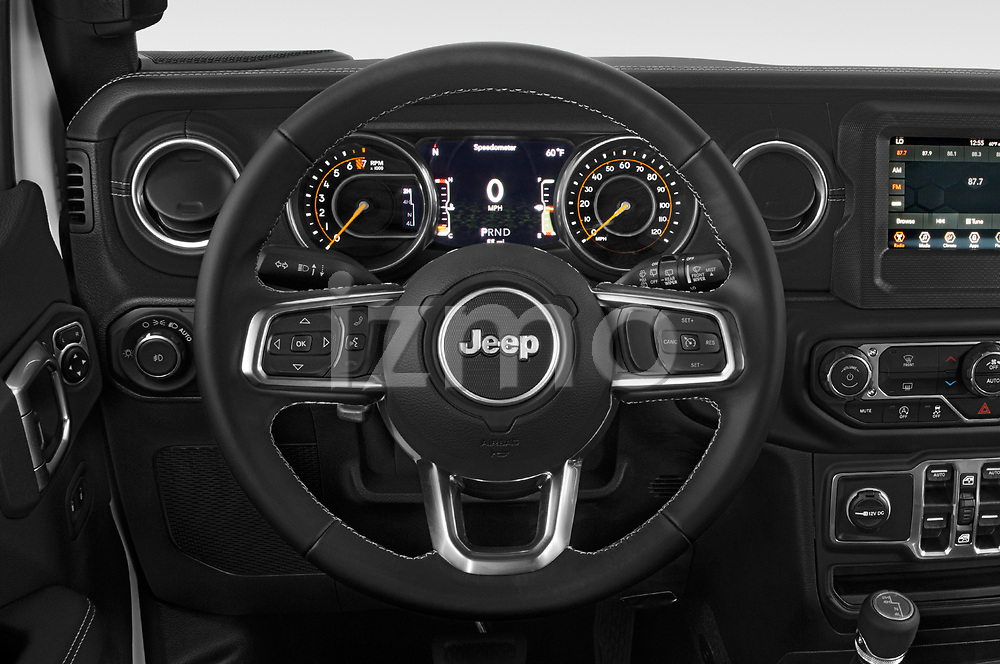 Car pictures of steering wheel view of a 2018 Jeep Wrangler Unlimited Sahara 5 Door SUV