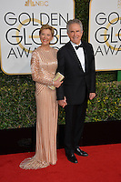 Annette Bening &amp; Warren Beatty at the 74th Golden Globe Awards  at The Beverly Hilton Hotel, Los Angeles USA 8th January  2017<br /> Picture: Paul Smith/Featureflash/SilverHub 0208 004 5359 sales@silverhubmedia.com