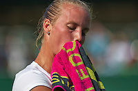 England, London, June 29, 2015, Tennis, Wimbledon, Richel Hogenkamp (NED) during changeover<br /> Photo: Tennisimages/Henk Koster