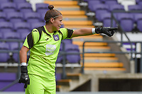20190813 - ANDERLECHT, BELGIUM : Anderlecht's Justien Odeurs pictured during the female soccer game between the Belgian RSCA Ladies – Royal Sporting Club Anderlecht Dames  and the Northern Irish Linfield ladies FC , the third and final game for both teams in the Uefa Womens Champions League Qualifying round in group 8 , Tuesday 13 th August 2019 at the Lotto Park Stadium in Anderlecht  , Belgium  .  PHOTO SPORTPIX.BE   DIRK VUYLSTEKE