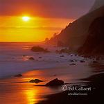 Sunset, Usal Beach, Sinkyone Wilderness State Park, Lost Coast, Mendocino County, California