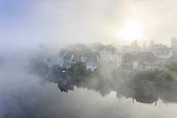 France, Correze, Dordogne valley, Argentat, view from the Pont de la Republique // France, Corrèze (19), vallée de la Dordogne, Argentat, vue depuis le pont de la République