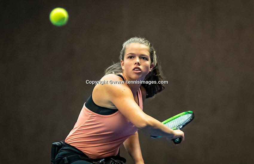 Alphen aan den Rijn, Netherlands, December 18, 2019, TV Nieuwe Sloot,  NK Tennis, Wheelchair woman's, Lizzy de Greef (NED)<br /> Photo: www.tennisimages.com/Henk Koster