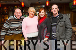 Leonard Buckley, Carmelita Ryan,Fiona O Connor and Martin Conway enjoying the Mercy Mounthawk Parents Council Table Quiz in the Brogue on Thursday