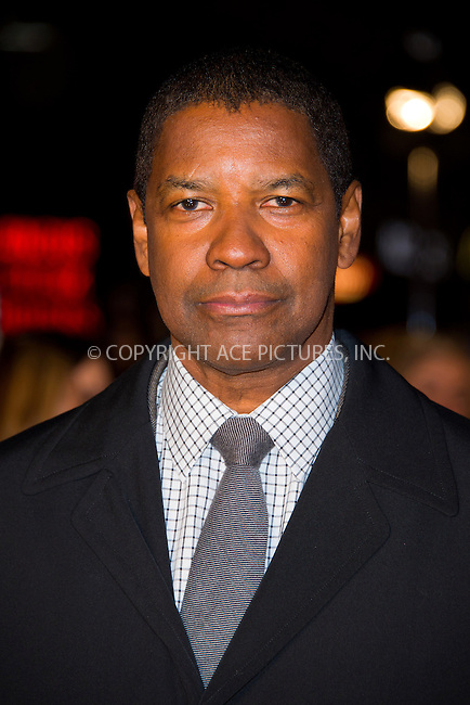 WWW.ACEPIXS.COM....US Sales Only....January 17, 2013, London....Denzel Washington at the premiere of 'Flight' at the Empire Leicester Square on January 17 2013 in London....By Line: Famous/ACE Pictures......ACE Pictures, Inc...tel: 646 769 0430..Email: info@acepixs.com..www.acepixs.com