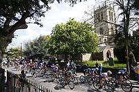 Picture by SWpix.com - 03/05/2018 - Cycling - 2018 Asda Women's Tour de Yorkshire - Stage 1: Beverley to Doncaster - The peloton passes Hatfield Church