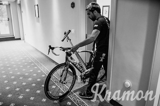 hotel-life at the Trek-Segafredo team hotel<br /> <br /> Stage 15: Valdengo › Bergamo (199km)<br /> 100th Giro d'Italia 2017