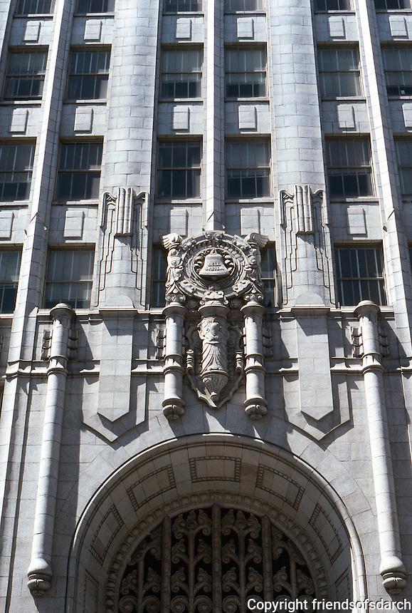 San Francisco:  Pacific Telephone--Entrance.  Photo '89.