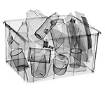 X-ray image of full recycle bin (black on white) by Jim Wehtje, specialist in x-ray art and design images.
