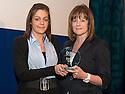 24/11/2010   Copyright  Pic : James Stewart.etu_awards_004  .::  FALKIRK COUNCIL ::  EMPLOYMENT & TRAINING UNIT :: AWARDS 2010 :: APPRENTICE OF THE YEAR LEVEL 2 WINNER TINA SWINNEY RECEIVES HER AWARD FROM RHONA GEISLER, DIRECTOR OF DEVELOPMENT SERVICES, FALKIRK COUNCIL ::.
