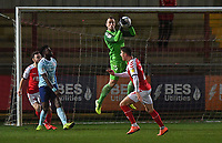 Fleetwood Town's Alex Cairns<br /> <br /> Photographer Dave Howarth/CameraSport<br /> <br /> Leasing.com Trophy Northern Section Round Three - Fleetwood Town v Accrington Stanley - Tuesday 7th January 2020 - Highbury Stadium - Fleetwood<br />  <br /> World Copyright © 2018 CameraSport. All rights reserved. 43 Linden Ave. Countesthorpe. Leicester. England. LE8 5PG - Tel: +44 (0) 116 277 4147 - admin@camerasport.com - www.camerasport.com