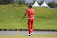 Victor Dubuisson (FRA) on the 18th green during Round 2 of the 100th Open de France, played at Le Golf National, Guyancourt, Paris, France. 01/07/2016. <br /> Picture: Thos Caffrey | Golffile<br /> <br /> All photos usage must carry mandatory copyright credit   (&copy; Golffile | Thos Caffrey)
