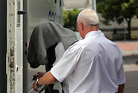 Pictured: Aaeron Evans leaving Cardiff Crown Court after an earlier hearing.<br />