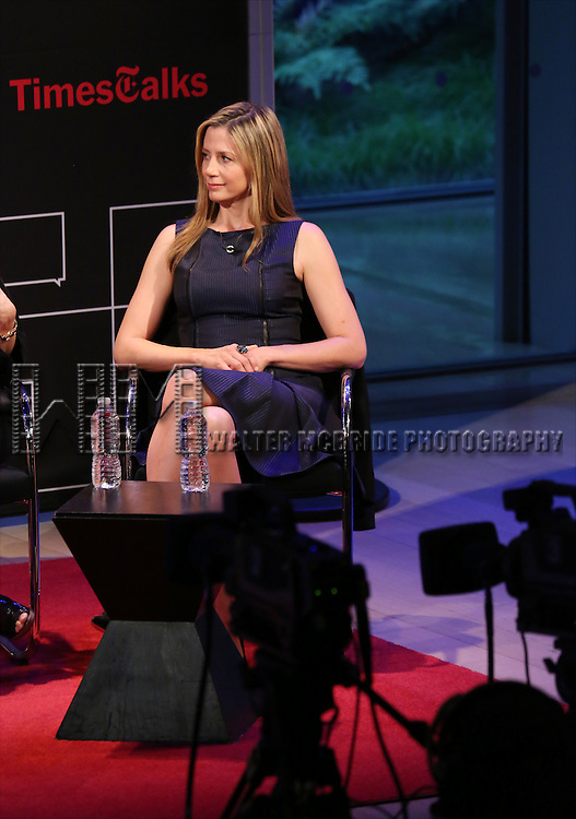 Mira Sorvino on stage at 'TimesTalks: Powerful Women of TV' at Times Center on July 24, 2014 in New York City.