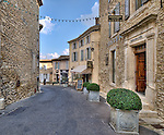 Street in the vilage of Gordes
