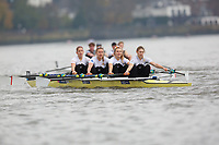 Crew: 91  EHU/ MBC (A)  Edinburgh University/ Molesey BC (L Glover) Event: W 4x- B1<br /> <br /> Fours Head 2019