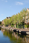 Residential development and canal at Spirit Quay near Tobacco Dock, Wapping, London