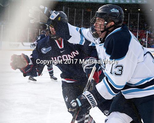 Benjamin Freeman (UConn - 24), Nolan Vesey (Maine - 13) - The University of Maine Black Bears defeated the University of Connecticut Huskies 4-0 at Fenway Park on Saturday, January 14, 2017, in Boston, Massachusetts.