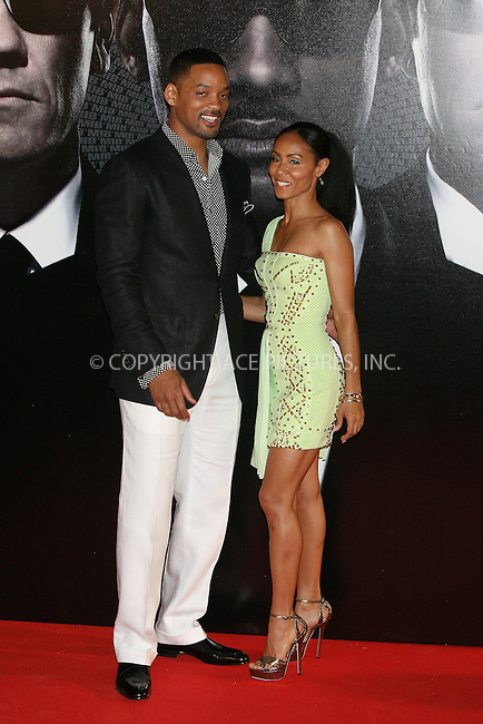 WWW.ACEPIXS.COM . . . . .  ..... . . . . US SALES ONLY . . . . .....May 13 2012, Madrid....Actors Will Smith and Jada Pinkett Smith at the 'Men In Black 3' premiere at La Caja Magica on May 13, 2012 in Madrid, Spain.....Please byline: FD/ACE Pictures, Inc.... . . . .  ....Ace Pictures, Inc:  ..Tel: (212) 243-8787..e-mail: info@acepixs.com..web: http://www.acepixs.com