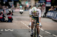 Luke Durbridge (AUS/Mitchelton-Scott) post-race<br /> <br /> Elite Men Individual Time Trial<br /> from Northhallerton to Harrogate (54km)<br /> <br /> 2019 Road World Championships Yorkshire (GBR)<br /> <br /> ©kramon