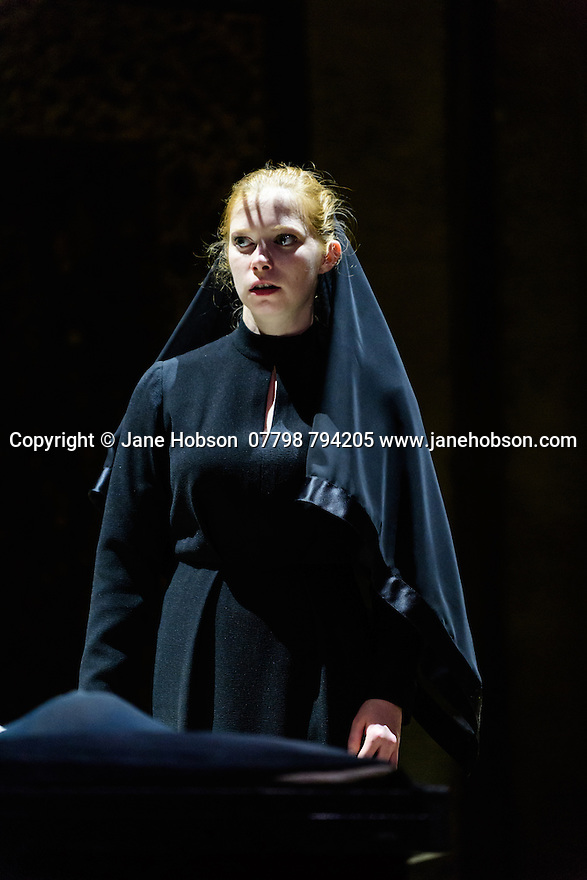 "Schaubuhne Berlin presents ""Richard III"", by William Shakespeare, at the Lyceum Theatre, as part of the Edinburgh International Festival. Picture shows: Jenny Konig (Lady Anne)"
