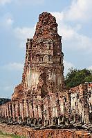 Ruins at Wat Yai Chaya Mongkol or The Great Temple of Auspicious Victory, Ayutthaya, Thailand