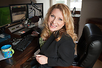 Delilah Rene in the West Seattle studio where the Delilah show is produced on February 8, 2010. Photo by Meryl Schenker