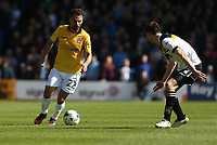 Bolton Wanderers' Filipe Morais and Port Vale's Scott Tanser<br /> <br /> Photographer Stephen White/CameraSport<br /> <br /> The EFL Sky Bet League One - Port Vale v Bolton Wanderers  - Saturday 22nd April 2017 - Vale Park - Burslem<br /> <br /> World Copyright &copy; 2017 CameraSport. All rights reserved. 43 Linden Ave. Countesthorpe. Leicester. England. LE8 5PG - Tel: +44 (0) 116 277 4147 - admin@camerasport.com - www.camerasport.com