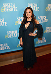 Ashley Park attends Broadway Red Carpet Premiere of 'Speech & Debate'  at the American Airlines Theatre on April 2, 2017 in New York City.