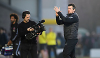 Fleetwood Town manager Joey Barton applauds the fans at the final whistle, as he is filmed by a cameraman from a video production company making a documentary about his first year as a manager<br /> <br /> Photographer Chris Vaughan/CameraSport<br /> <br /> The EFL Sky Bet League One - Saturday 23rd February 2019 - Burton Albion v Fleetwood Town - Pirelli Stadium - Burton upon Trent<br /> <br /> World Copyright © 2019 CameraSport. All rights reserved. 43 Linden Ave. Countesthorpe. Leicester. England. LE8 5PG - Tel: +44 (0) 116 277 4147 - admin@camerasport.com - www.camerasport.com