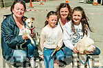 Dan Paddy Andy Festival: Pictured at the dog show at the Dan Paddy Andy festival in Lyrecrompane on Sarurday last were Agnes heaphy & Chixie & Niamh, Sinead & margaret Shanahan & Novix