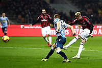 Samuel Castillejo scores first goal for his side during the Serie A 2018/2019 football match between AC Milan and SPAL at stadio Giuseppe Meazza in San Siro, Milano, December 29, 2018 <br /> Foto Image Sport / Insidefoto