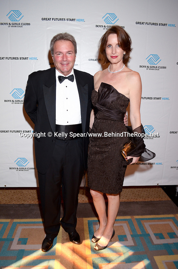 Michael Katz and Erica English attend The Boys and Girls Club of Miami Wild About Kids 2012 Gala at The Four Seasons, Miami, FL on October 20, 2012