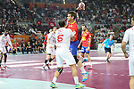 handball wordl cup match between Spain vs Tunisia. aguinagalde . 2015/01/25. Doha. Qatar. Alberto de Isidro.Photocall 3000