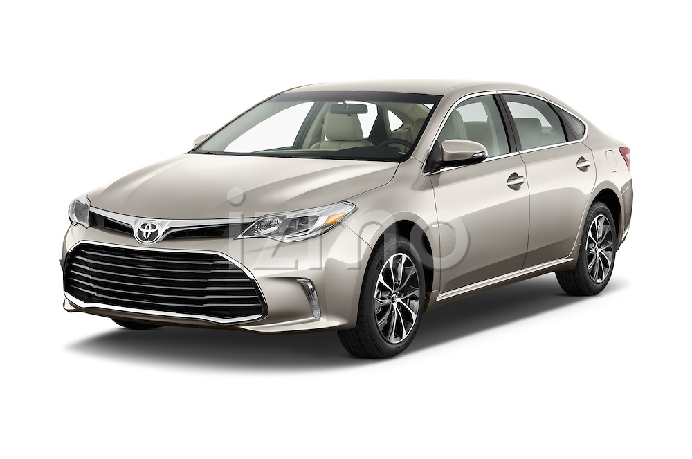 2016 Toyota Avalon XLE 4 Door Sedan Angular Front stock photos of front three quarter view