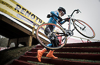 Githa Michiels (BEL) on the steps<br /> <br /> GP Sven Nys 2017