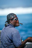 Namotu Island Fiji. Wanga (FJI) Namotu's best boat driver.  The 2003 Quiksilver Pro Fiji was won by current world surfing champion, Hawaiian Andy Irons (HAW). Florida surfer Cory Lopez (USA) finished runner up.Photo: joliphotos.com
