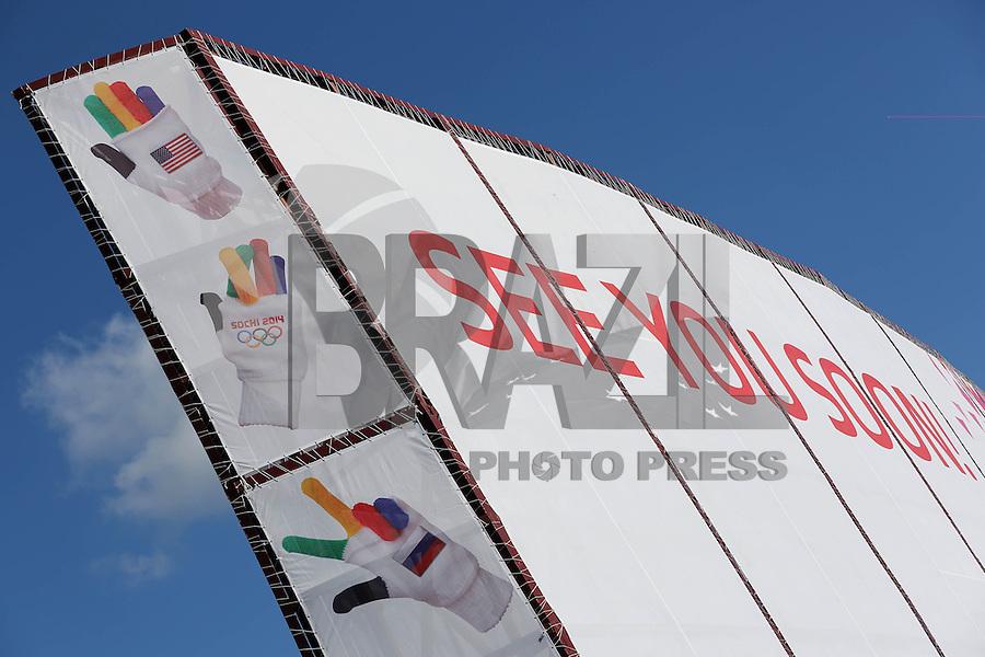SOCHI, RUSSIA, 06.02.2014 - Movimentacao no Parque Olimpico de Sochi, durante os Jogos Olímpicos de Inverno de Sochi 2014, em Sochi na Russia nesta quinta-feira, 06. (Foto: Malte Christians / Brazil Photo Press).