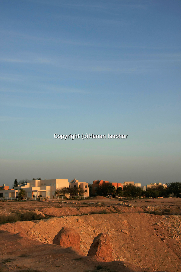 Israel, Northern Negev Mountain. Kibbutz Sde Boker at sunrise