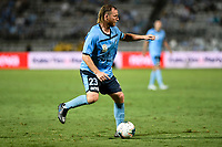 31st January 2020; Netstrata Jubilee Stadium, Sydney, New South Wales, Australia; A League Football, Sydney FC versus Brisbane Roar; Rhyan Grant of Sydney looks to pass the ball through into attack
