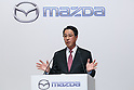 Mazda Motor Corporation President and CEO Masamichi Kogai speaks during a news conference at the Royal Park Hotel Tokyo on August 4, 2017, Tokyo, Japan. Kogai and Toyota Motor Corporation President Akio Toyoda announced an alliance between the car makers; whereby they will invest in each other and plan to build a joint auto factory in the U.S. and cooperate in new technologies for electric vehicles. (Photo by Rodrigo Reyes Marin/AFLO)