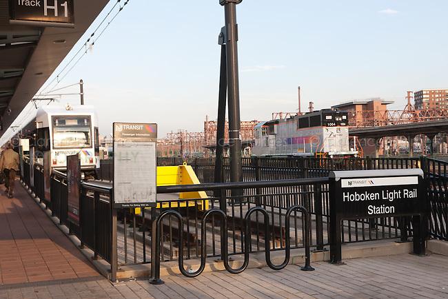 The Hoboken Light Rail Station located in Hoboken Terminal, Hoboken, New Jersey