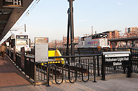 The Hoboken Light Rail Station located in Hoboken Terminal, Hoboken, New Jersey