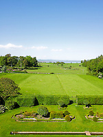 The stunning view from an 18th century country house over 20 acres of gardens and woodland