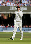 9th September 2017, Lords Cricket Ground, London, England; International test match series, third test, Day 3; England versus West Indies; England Captain Joe Root checks his fielder positions