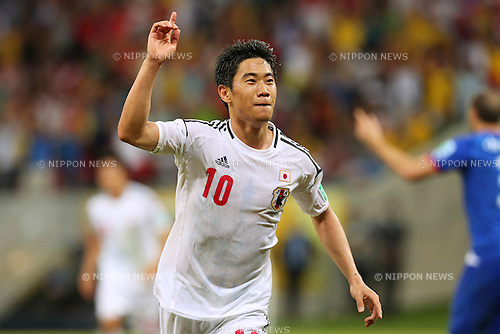 Shinji Kagawa (JPN), <br /> June 19, 2013 - Football / Soccer : <br /> FIFA Confederations Cup Brazil 2013, Group A <br /> match between Italy 4-3 Japan <br /> at Arena Pernambuco, Recife, Brazil. <br /> (Photo by Daiju Kitamura/AFLO SPORT)