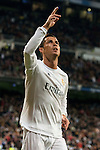 Real Madrid's Cristiano Ronaldo celebrating a goal during La Liga match. March 20,2016. (ALTERPHOTOS/Borja B.Hojas)