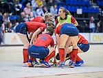 ROTTERDAM  - NK Zaalhockey . finale dames hoofdklasse: hdm-Laren 2-1. hdm landskampioen. teamoverleg Laren.      COPYRIGHT KOEN SUYK